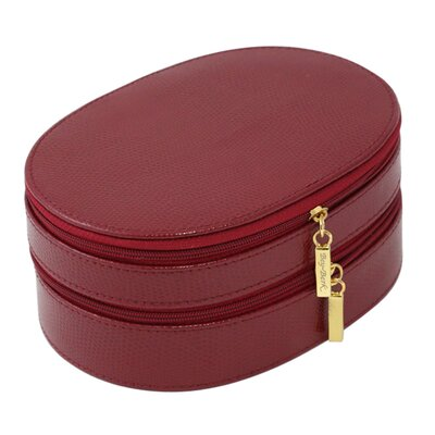 Lizard 2 Level Jewelry Box Color: Red