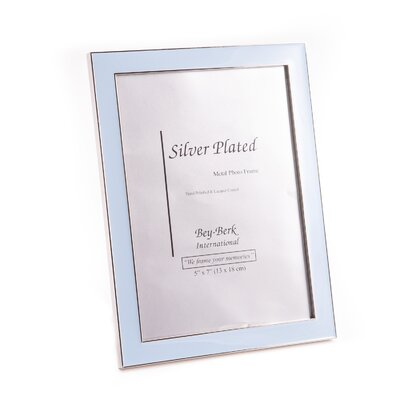Silver Plated Picture Frame Color: Blue SF117-11