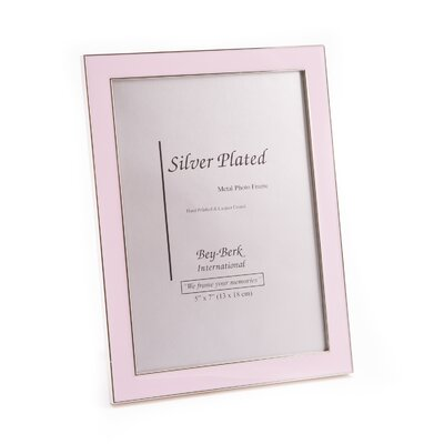 Silver Plated Picture Frame Color: Pink SF118-11