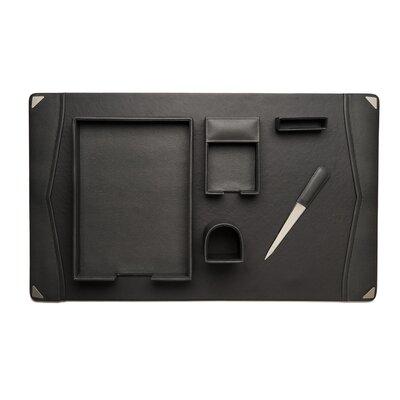 6 Piece Leather Desk Set D2009