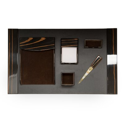6 Piece Desk Set Finish: Black D2010