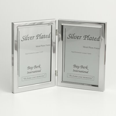 Silver Plated Double Picture Frame