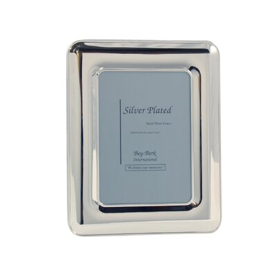 Silver Plated Picture Frame Picture Size: 8 x 10