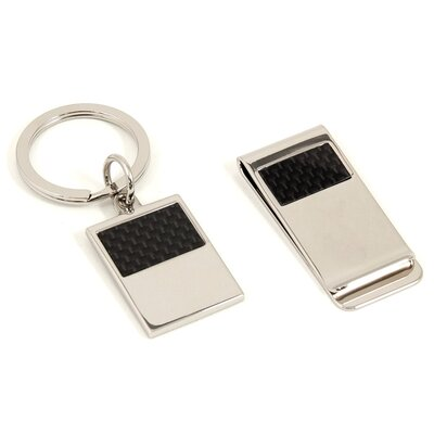 2 Piece Money Clip and Key Ring Set