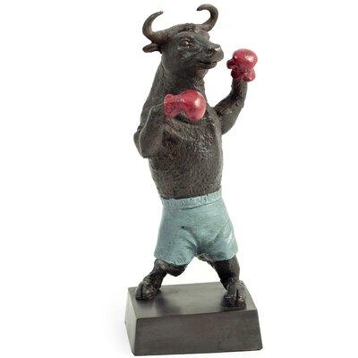 Boxing Bull Figurine B191