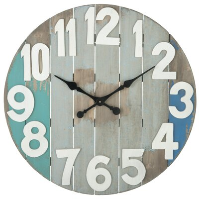 "Oversized 28.88"" Slatted Wall Clock 63064"