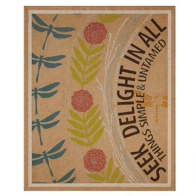 Seek Delight Graphic Art On Wrapped Canvas