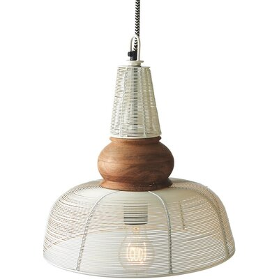 1-Light Bowl Pendant Shade Color: Ivory
