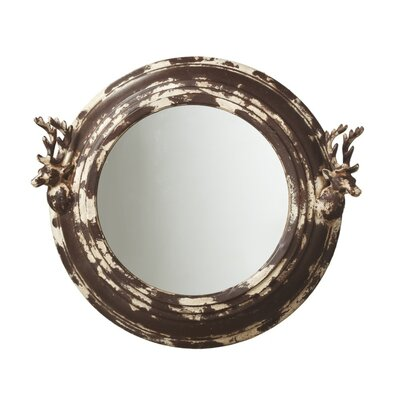 Weekend Retreat Distressed Stag Wall Mirror 1