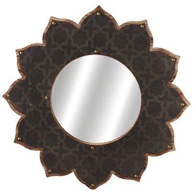 Weekend Retreat Layered Galvanized Sunburst Wall Mirror