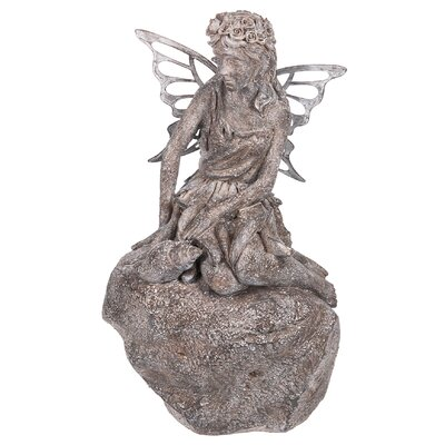 Garden Angel Fairy on Stone Statue 138413
