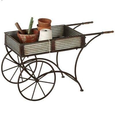 Outdoor Living Galvanized Flower Wheelbarrow Planter 145178