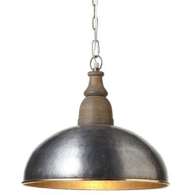 Lylia LED Inverted Wood Top Pendant