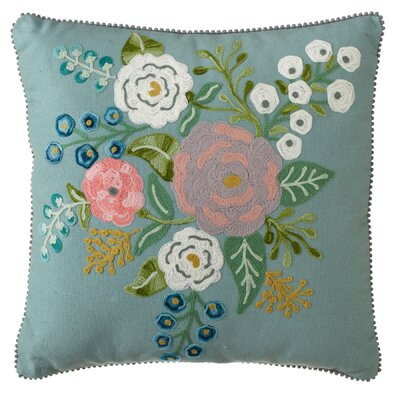 Cohutta Floral Embroidered Throw Pillow