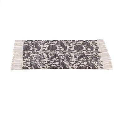 Zoila Cotton Gray/Beige Area Rug