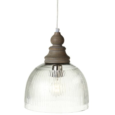 Zoila Ribbed LED Inverted Pendant