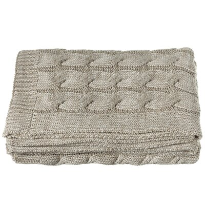 Imran Chunky Cable Knit Throw