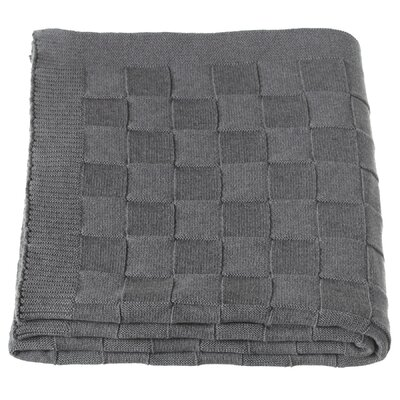 Haddon Checkered Knit Throw