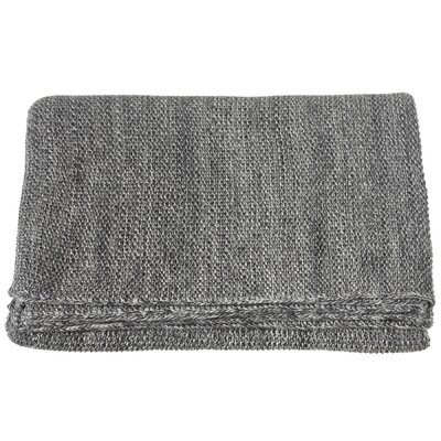 Lylia Plain Marled  Seed Stitch Knit Throw