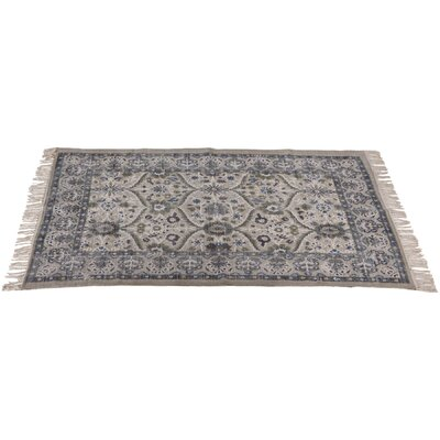 Kingsbury Cotton Blue/Gray Area Rug