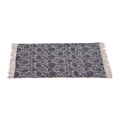 Zoila Cotton Beige/Indigo Area Rug Rug Size: 2 x 3