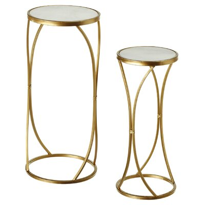 Boncelles Marble 2 Piece Small and Large Nesting Table
