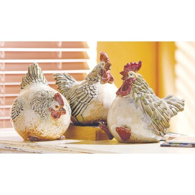 Ceramic Fat Chickens Figure (Set of 3) AGGR6822 40092559