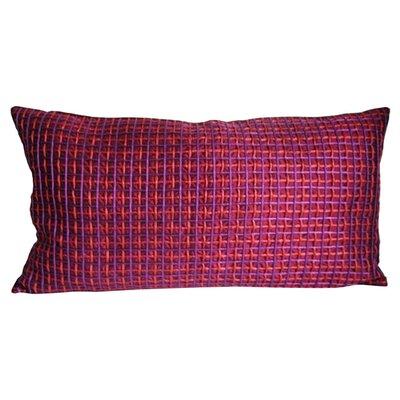 Double Grid Cord Lumbar Pillow Color: Merlot