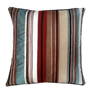 Stripe with Cord Throw Pillow Color: Neutral