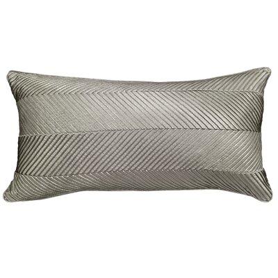 Amandes Chevron Cord Lumbar Pillow Color: Grey