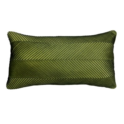 Amandes Chevron Cord Lumbar Pillow Color: Olive