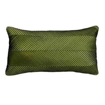 Chevron Cord Lumbar Pillow Color: Olive