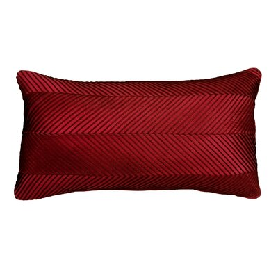 Amandes Chevron Cord Lumbar Pillow Color: Red