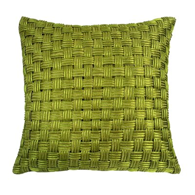 Basket Weave Cord Throw Pillow Color: Lime