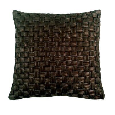 Denker Basket Weave Cord Throw Pillow Color: Chocolate