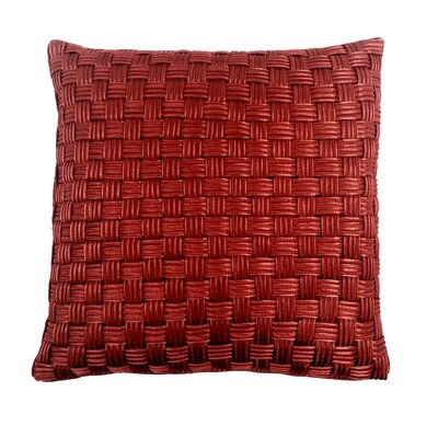 Denker Basket Weave Cord Throw Pillow Color: Brick