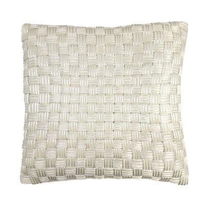 Basket Weave Cord Throw Pillow Color: Platinum