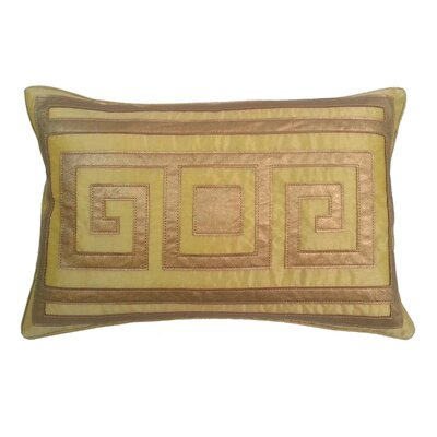 Greek Key Lumbar Pillow Color: Gold