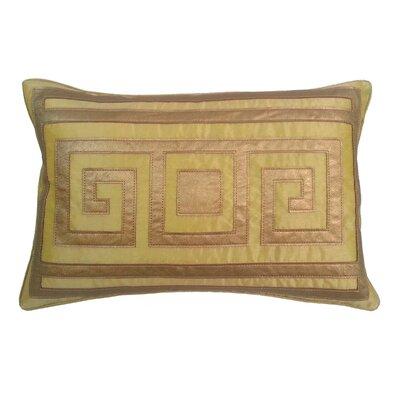 Greek Key Lumbar Pillow Color: Gold
