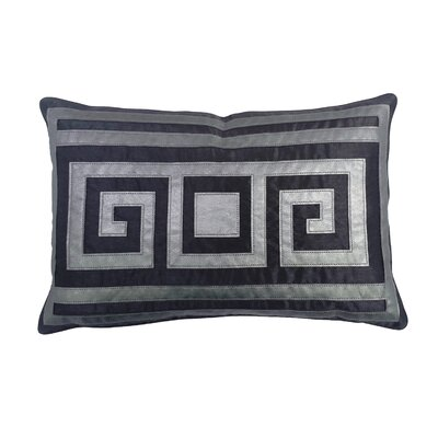 Greek Key Lumbar Pillow Color: Graphite