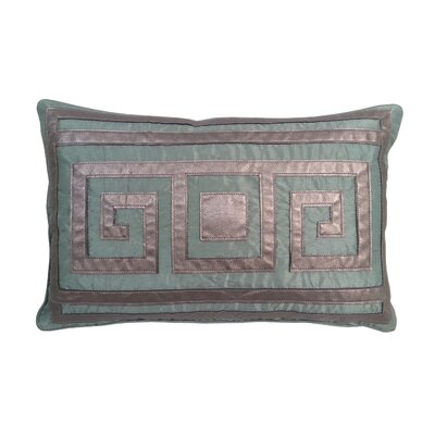Greek Key Lumbar Pillow Color: Mineral