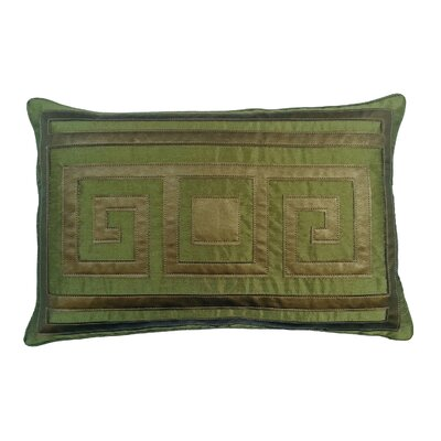 Greek Key Lumbar Pillow Color: Peridot
