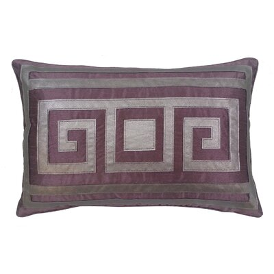 Greek Key Lumbar Pillow Color: Amethyst