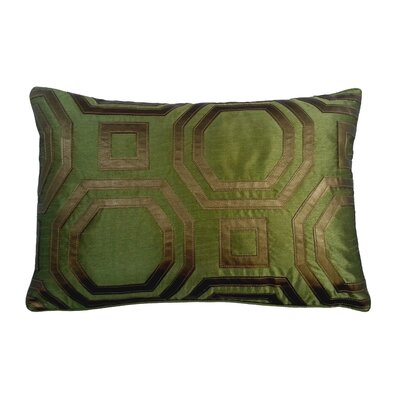 Metallic Hexagon Laser Lumbar Pillow Color: Peridot