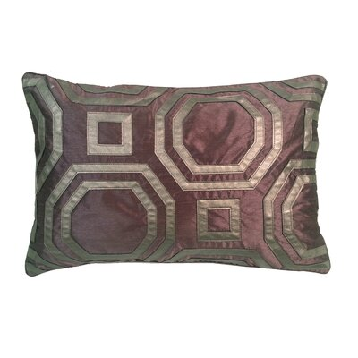 Metallic Hexagon Laser Lumbar Pillow Color: Amethyst