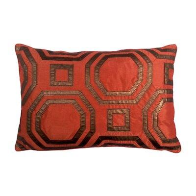 Metallic Hexagon Laser Lumbar Pillow Color: Copper