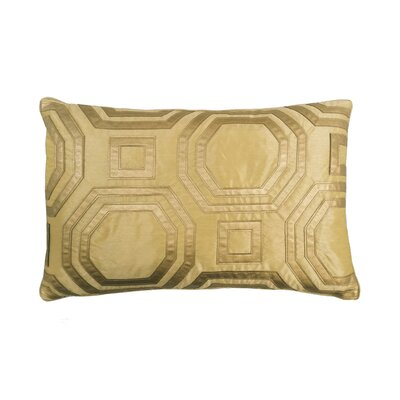 Metallic Hexagon Laser Lumbar Pillow Color: Gold