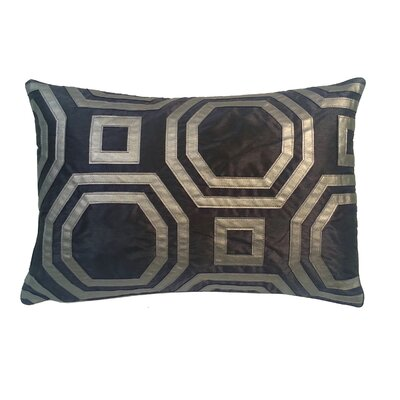 Metallic Hexagon Laser Lumbar Pillow Color: Graphite