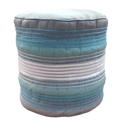 Shoelace Cord Pouf Ottoman Upholstery: Mineral