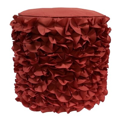 Dimensional Petals Pouf Ottoman Upholstery: Terracotta